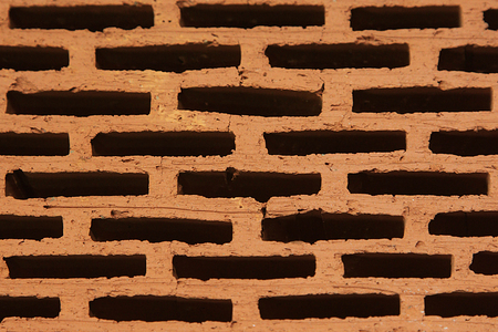 porous brick: Finishing construction of porous brick from clay