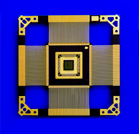 microprocessor: the microprocessor within the processing on a blue background