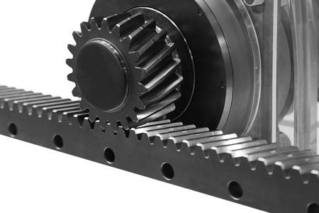 Gear wheel transmits energy flat has a rack
