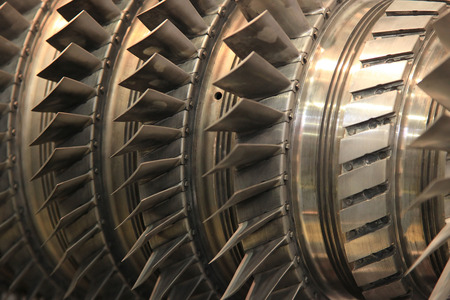 powerplant: Close up of internal rotor of a steam turbine