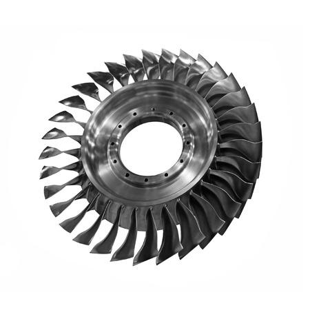 turbine: Gas Turbine for generating a jet engine power Stock Photo