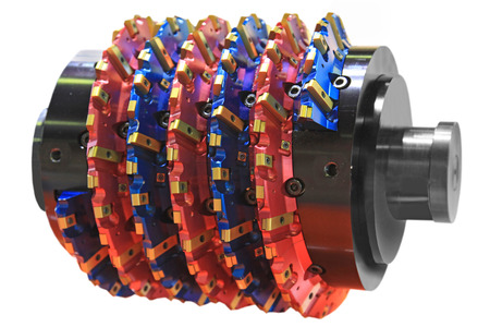 rapid steel: rapid steel hobbing cutter with coating for cog wheels gears machining on factory Stock Photo