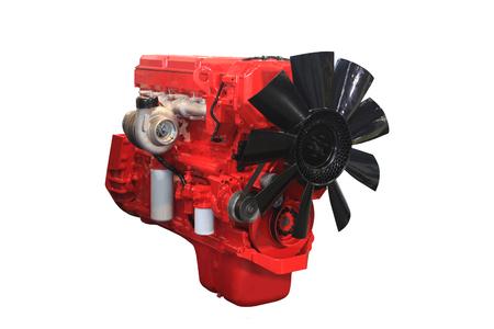Close-up shot van turbo dieselmotor