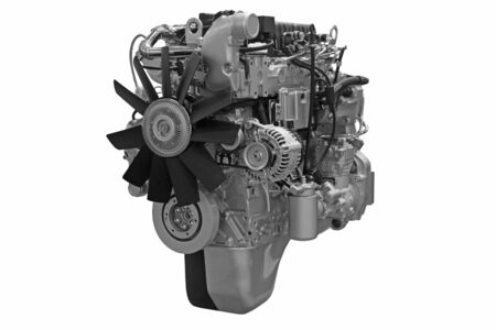 Close up shot of turbo diesel engine Stock Photo