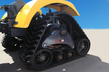 potency: rubber crampons on a tractor for construction work and agriculture