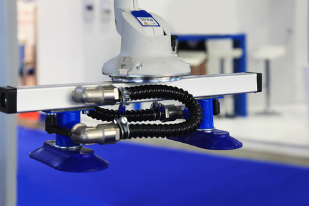 Robot with vacuum suction cups for moving boxes