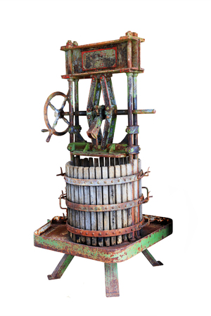 Old Wine Press. Traditional old Technique of Wine Making