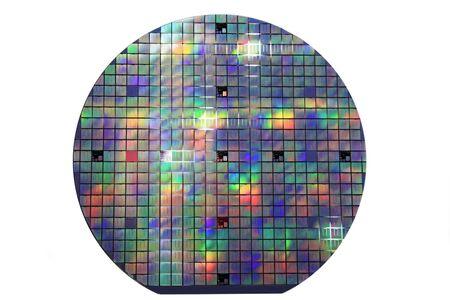 disco wafer semiconduttore colorato in silicio