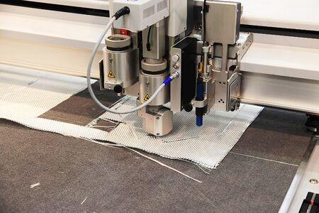 Automatic CNC  laser cutting machine in factory