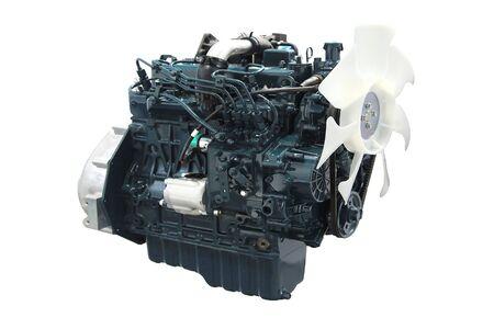 neuer Automotor isoliert auf weiß
