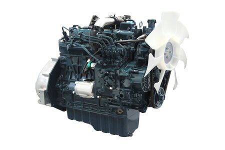 new auto car engine isolated on white
