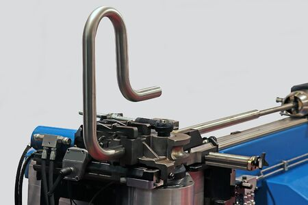 tube bending. industrial bender equipment machine for metal pipe bending.