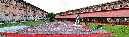 prison yard:  Cellular Jail on November 20, 2013 in Port Blair, Andaman Islands, India
