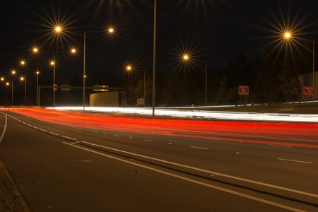 Vehicle lights brightly shimmering