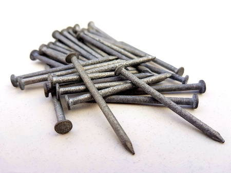 Nail used to build Stock Photo