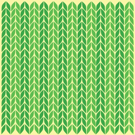in the ranks: Knitted loops green leaves knitting spokes a pattern from loops green lines ranks connected a background from knitted loops Stock Photo