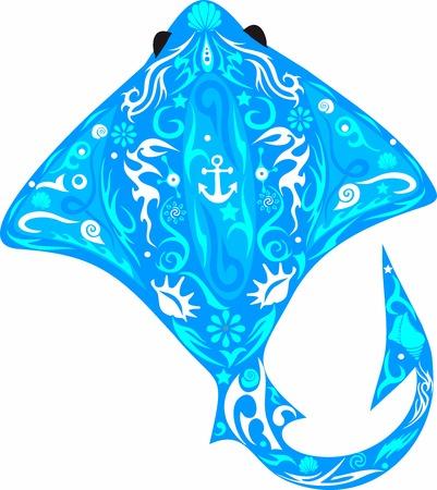scat: Scat sea fish Illustration