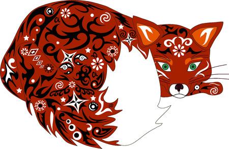 predator: The fox an illustration, a cunning predator, fauna of the wood