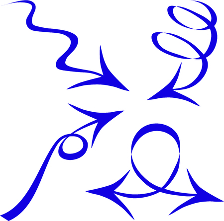describe: Arrows design, direction sign, the movement in a certain direction to describe the circle, a decorative arrow