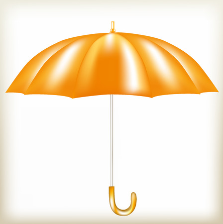 heavy rain: Umbrella the orange, bright dome, protection against a rain, rescues from bad weather, a waterproof subject, the beautiful accessory, the isolated object, an open umbrella serves as protection against heavy rain,