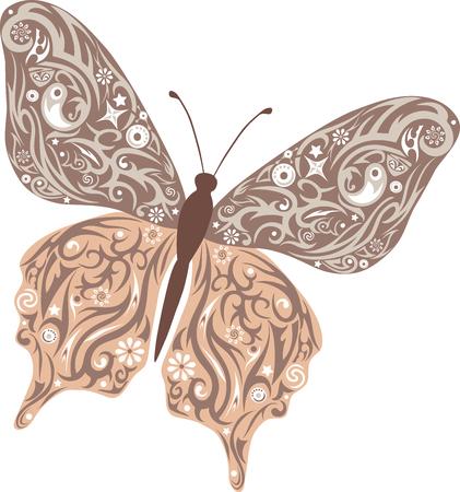robo: La mariposa vuela, un patr�n en las alas, el animal con el dibujo, una ilustraci�n de una polilla, moles con el dise�o, la vida silvestre, una decoraci�n con flores, dibujo de un insecto decorada rob�, un peque�o insecto peque�o, Vectores