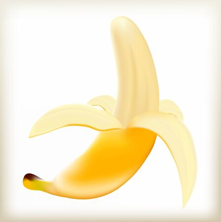 forage: Banana yellow, the torn-off peel, a ripe fruit, tropical fruit, a natural food, a fruit of a banana tree, berry with seeds, an exotic product, the tasty food, sweet fruit skinned, fresh food,