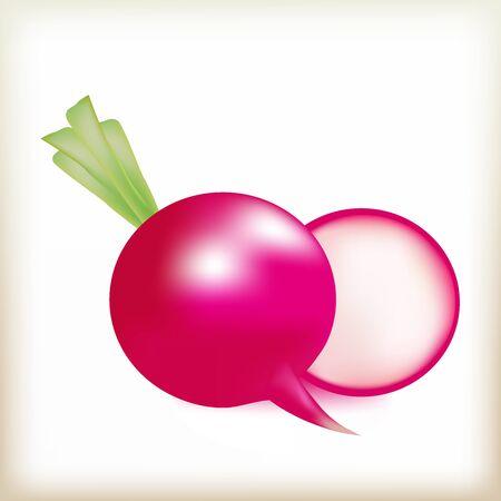 intact: pink radish