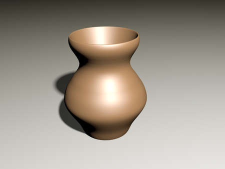 soumis: The vase is brown, house ware, a clay jug, a ceramic subject, kitchen utensils
