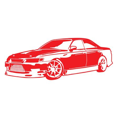 highspeed: The isolated car,  transport, the racing car, wheelbarrow model, the sketch of drawing, decorating, subject in the movement, costs sideways, a silhouette of a high-speed car, a vehicle,