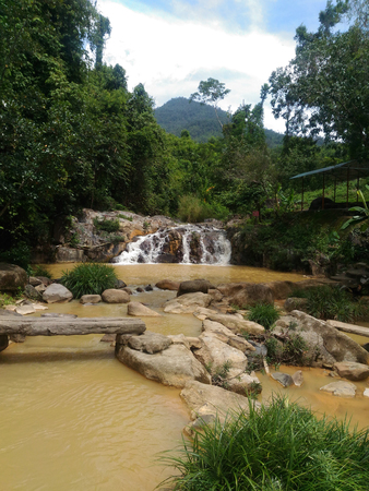 Waterfall in Nha Trang, waterfall, wildlife, tropical park, tourist spot, national landmark