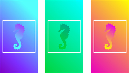 Iridescent smooth design texture, soft color gradients, seahorse, wavy color, iridescent smooth design texture,