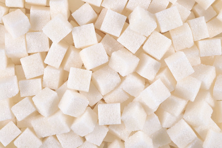 sugar cubes: Refined sugar as background texture