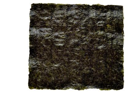 Nori zeewier blad op een witte achtergrond