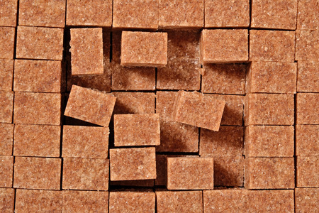 refined: Brown refined sugar as background texture Stock Photo