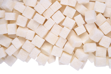 Heap of refined sugar close up