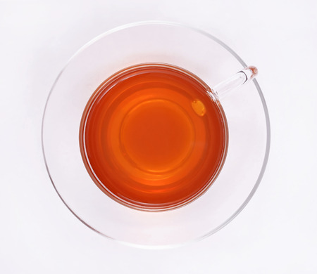 cup of water: Cup of tea, top view Stock Photo