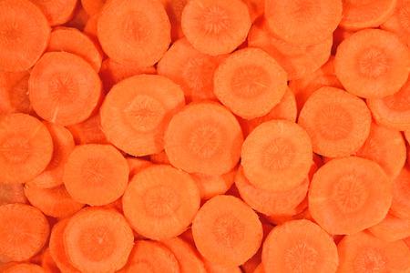 zanahorias: Rodajas de zanahoria como la textura de fondo