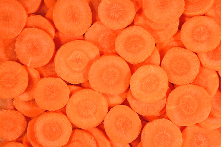 Carrot slices as background texture