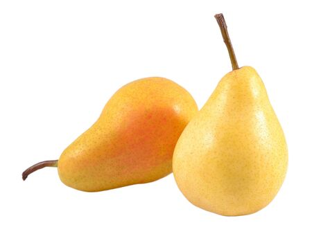 flesh colour: Pears on a white background