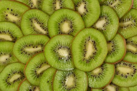 freshest: Sliced kiwi fruit as background texture