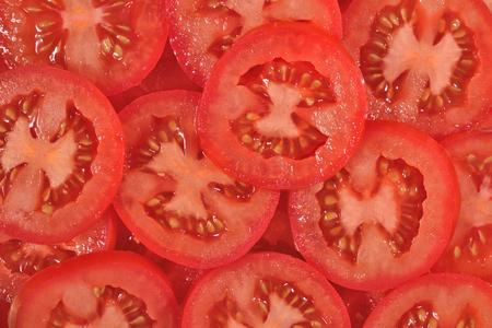Tomato slices as background texture
