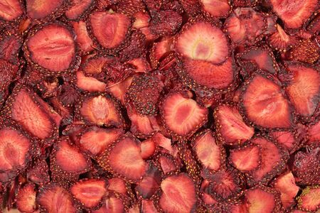 candied fruits: Dried strawberries as background texture