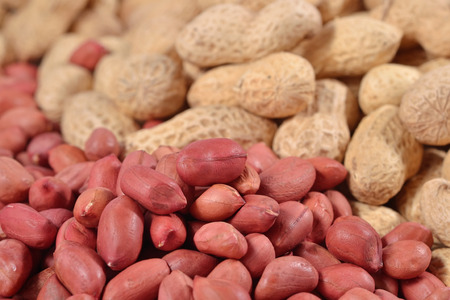 arachis: Heap of peanuts close up