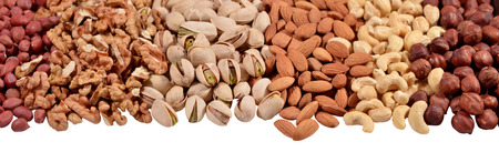 Assorted nuts as background texture