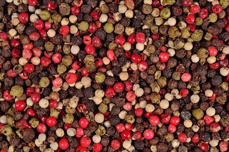 Gekleurde peper als achtergrond textuur Stockfoto