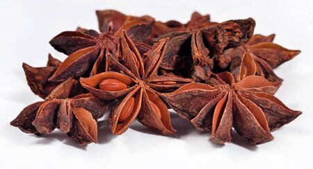 anis: Star anise on a white background