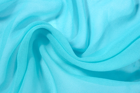 chine: Background from crumpled blue crepe de chine fabric Stock Photo