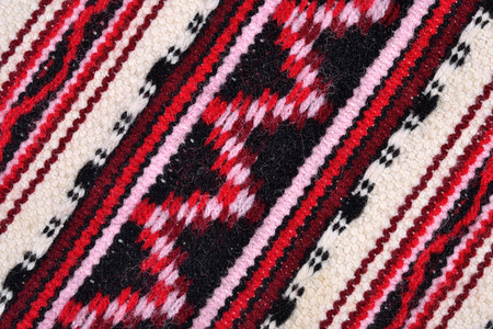 hand woven: Hand woven patterned fabric for background