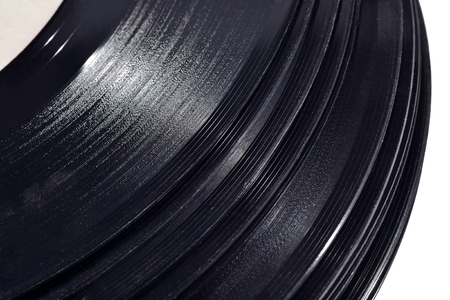 blues music: Old vinyl records close up Stock Photo