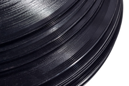 remix: Old vinyl records close up Stock Photo